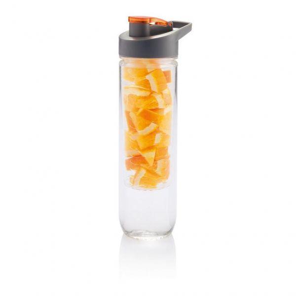 Loooqs Láhev s košíkem na ovoce, 800 ml - Oranžová