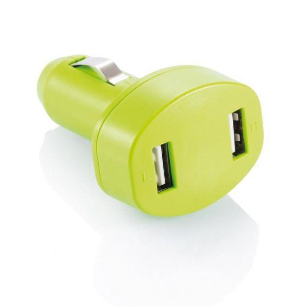 Loooqs Nabíječka do auta se dvěma USB vstupy - žlutá