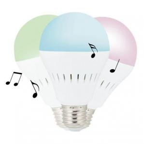 LED žárovka s Bluetooth reproduktorem