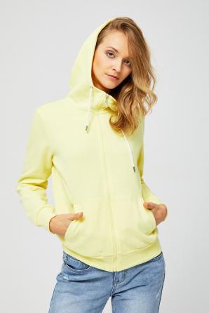 Mikina dámská na zip s kapucí