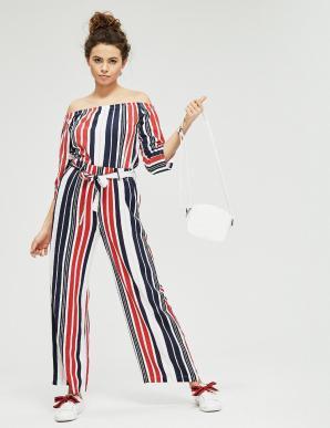 Kalhoty WIOLETI dámské pruhované