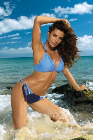 Plavky dámské Roxie Seppia-Paperino dvojdílné