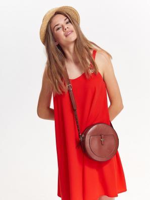 Šaty dámské červené ve volném stylu