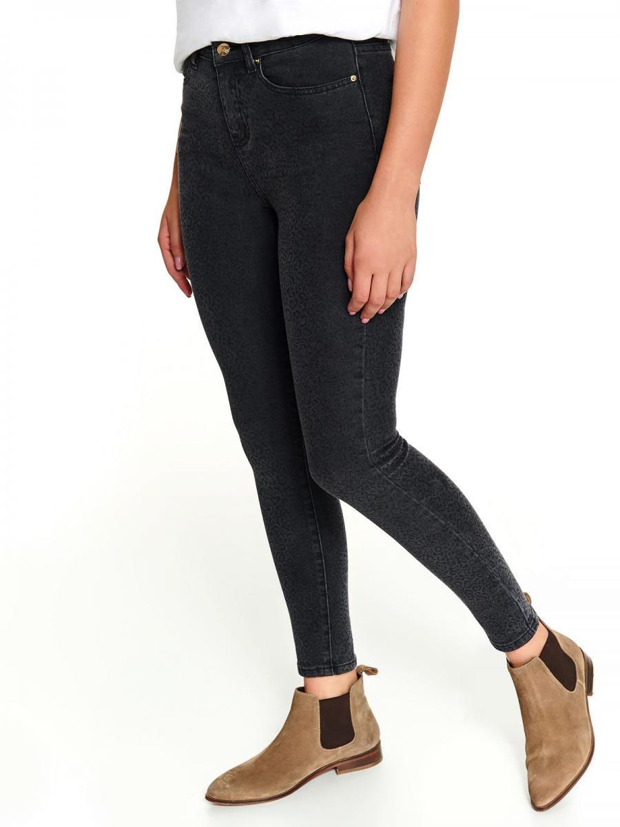 Top Secret Jeansy dámské LESGA se vzorem - černá - velikost 36