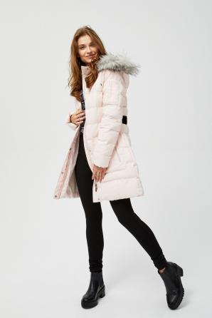 Bunda dámská s kožíškovou kapucí