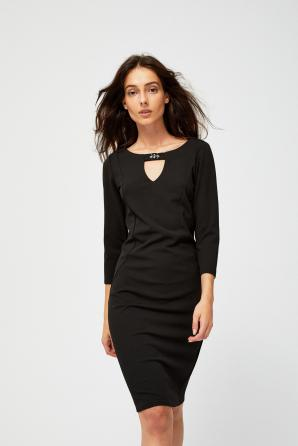 Šaty dámské černé s 3/4 rukávem