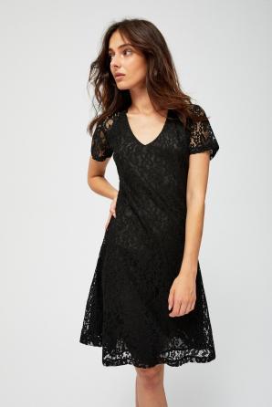 Šaty dámské krajkové s krátkým rukávem
