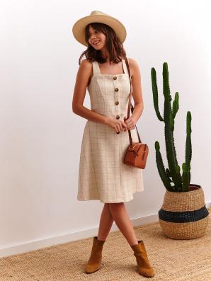 Šaty dámské REWY II bez rukávu s knoflíky
