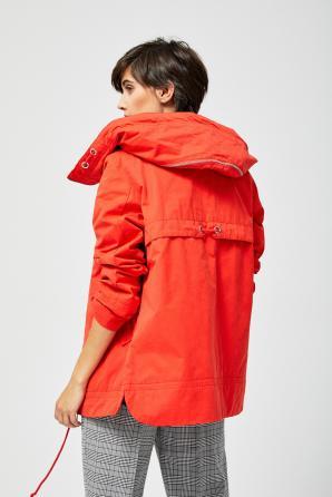 Bunda dámská s kapucí na zip