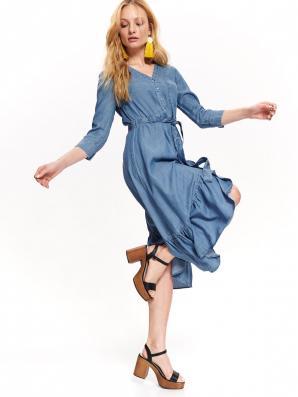 Šaty dámské VILA jeans s dlouhým rukávem