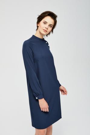 Šaty dámské volné s dlouhým rukávem