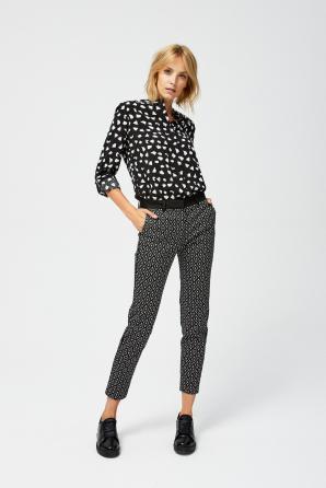 Kalhoty dámské vzorované
