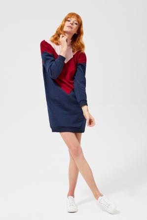 Šaty dámské MIKRA s dlouhým rukávem