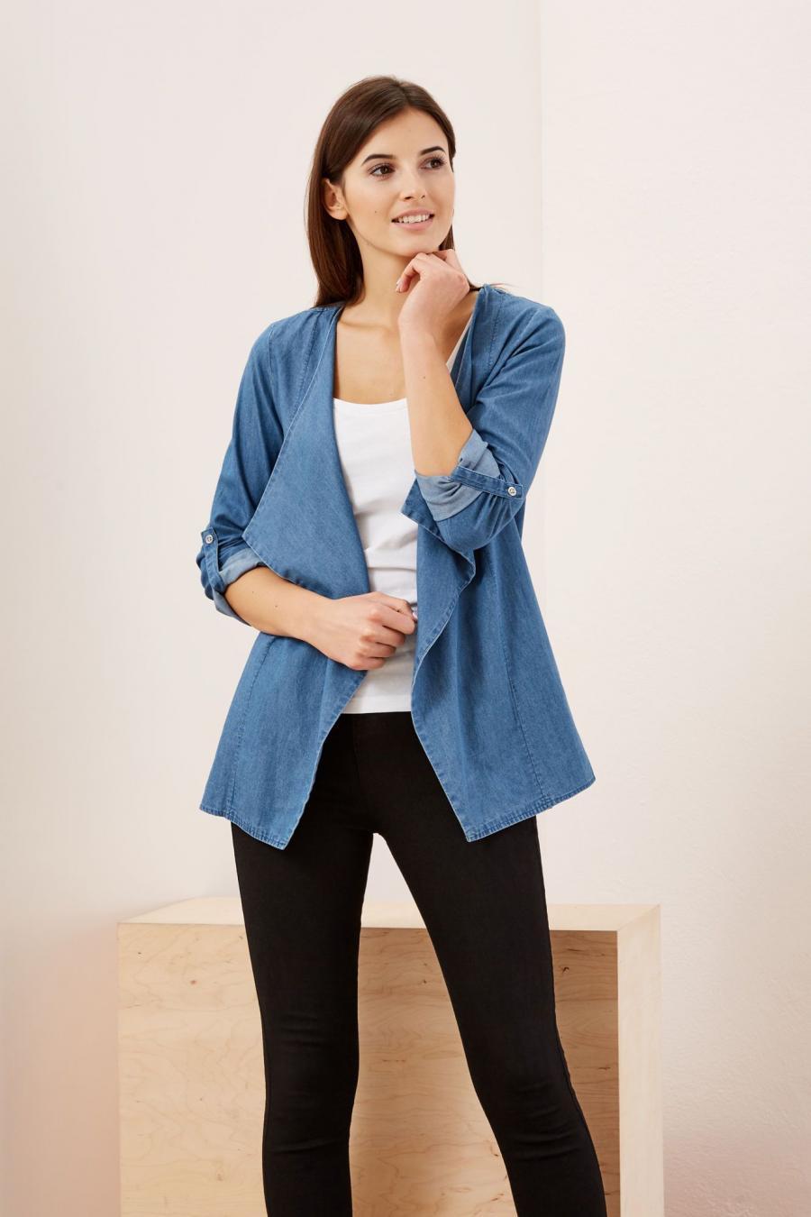Moodo Sako dámské jeans delší střih