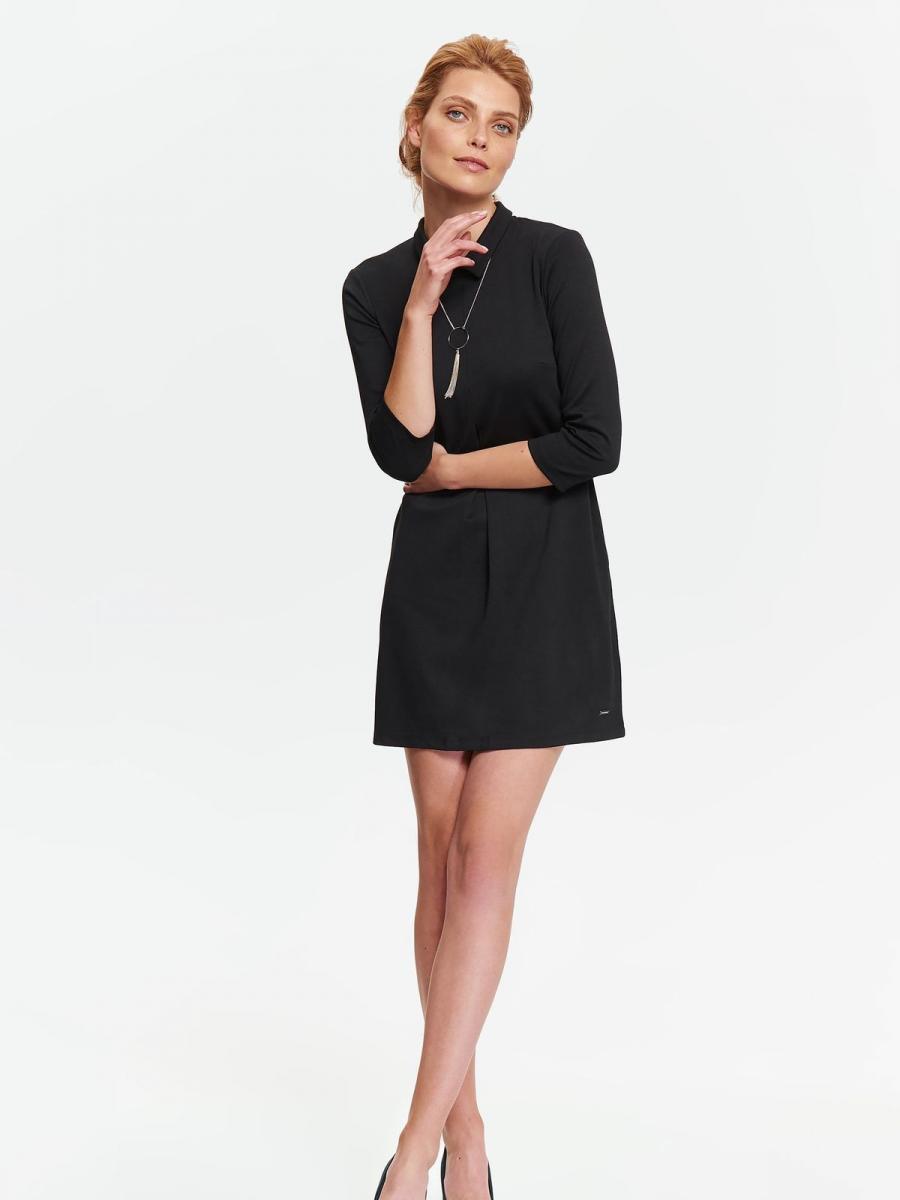 Top Secret šaty dámské černé s límečkem