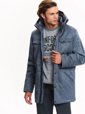 Bunda pánská modrá s kapucí