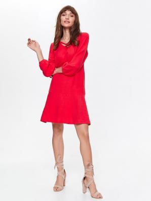 Šaty dámské  červené s 3/4 rukávem