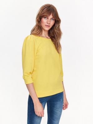 Mikina dámská žlutá s 3/4 rukávem a zavazovací tkanicí