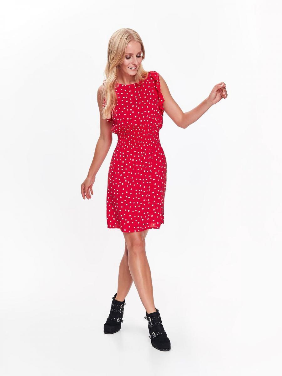 5fdd6308d5a Top Secret šaty dámské červené s puntíky bez rukávu - červená - velikost 38