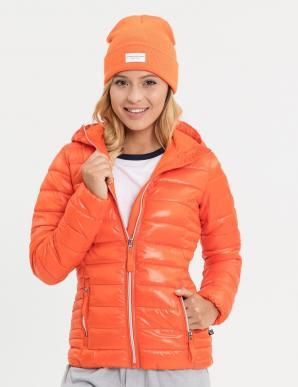 Bunda dámská LACTI prošívaná na zip s kapucí