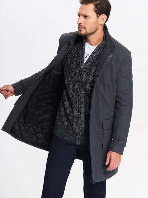 Kabát pánský 2v1 šedý