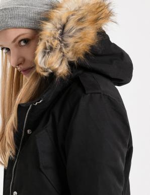 Bunda dámská TJAMANTA s kožíškovou kapucí