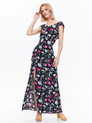 Šaty dámské dlouhé MAXI vzorované bez rukávu