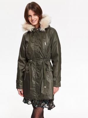 Bunda dámská PARKA s kožíškovou kapucí