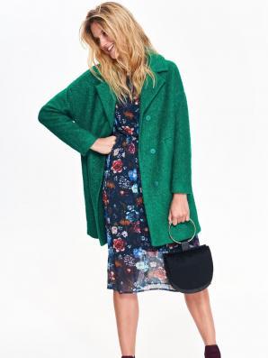 Kabát dámský vlněný v zeleném odstínu