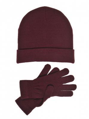 Čepice dámská a rukavice dámské komplet