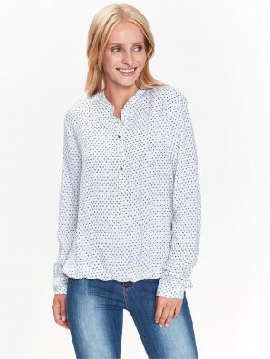 Košile dámská vzorovaná s gumou v lemu a dlouhým rukávem