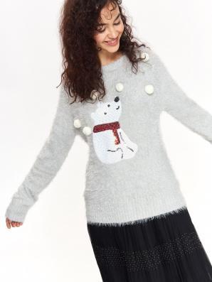 Svetr dámský BEAR SNOW s dlouhým rukávem