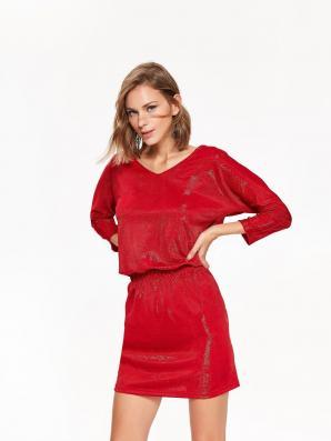 Šaty dámské z lesklého materiálu
