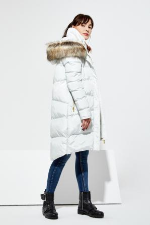 Bunda dámská prošívaná s kapucí