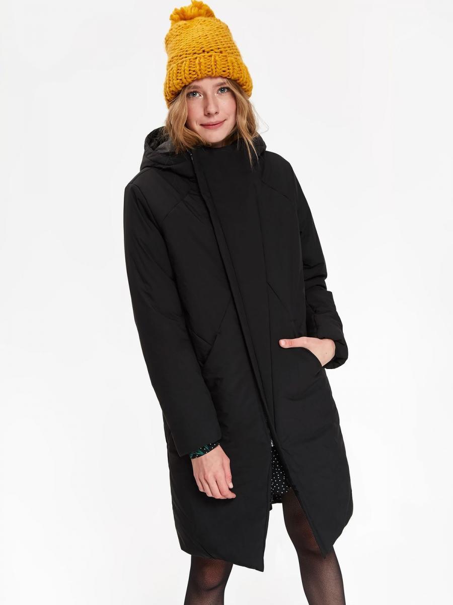 Top Secret Bunda dámská černá s kapucí