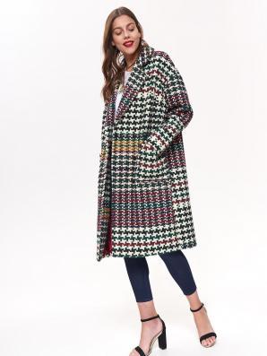 Kabát dámský vzorovaný