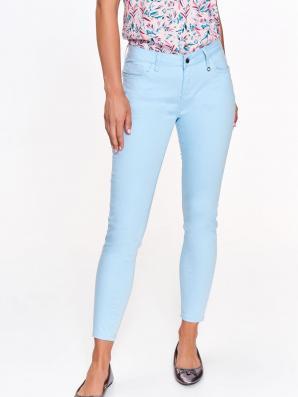 Kalhoty dámské bledě modré s elastanem