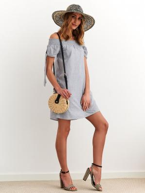 Šaty dámské MIAS s odhalenými rameny