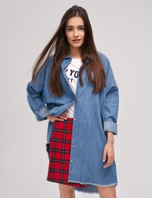 Košile dámská KAMBI dlouhá jeans over size