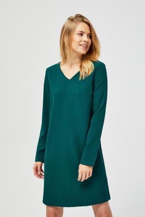 Šaty dámské s dlouhým rukávem a výstřihem do V